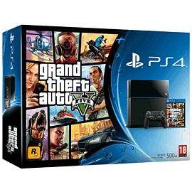 PlayStation 4 with Grand Theft Auto V and The Last of Us Remastered download