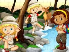 露营儿童拼图