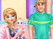 怀孕的安娜和婴儿护理