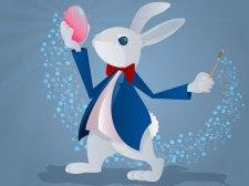 Coloriage de lapins drôles