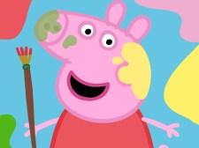可爱的猪油漆箱