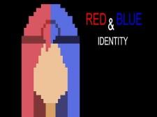 红色和蓝色标识