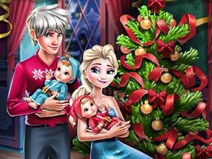 لعبة عيد الميلاد أسرة إلسا