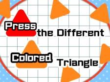 Presiona el triángulo de diferentes colores.