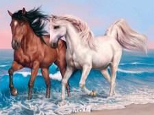 动物拼图拼图马