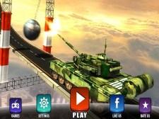 不可能的军队坦克驾驶模拟器轨道