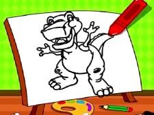 简单的孩子着色恐龙