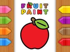 Peinture aux fruits