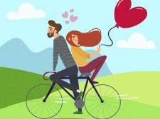 热恋中的情侣拼图