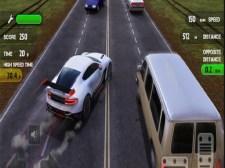 Course de voiture de zone de trafic