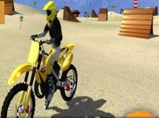 摩托车海滩特技