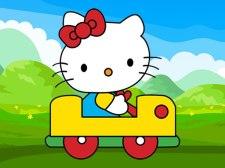 可爱的小猫车拼图