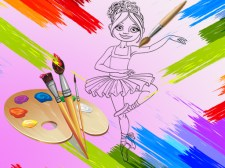 Coloriage de petites ballerines