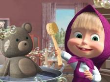 娃娃和熊清洁游戏