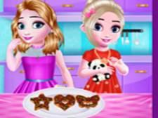 Tiempo de cocina de niñas pequeñas