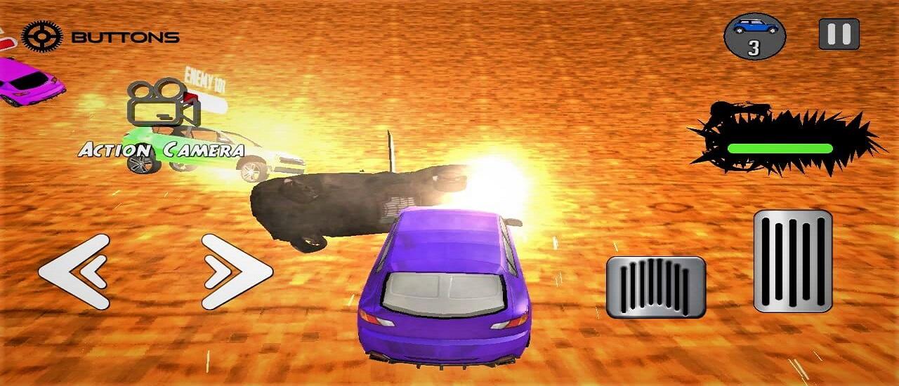لعبة ساحة سيارات المعركة