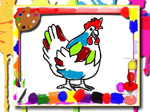لعبة كتاب تلوين الدجاج