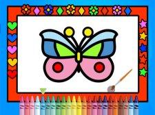 彩色和装饰蝴蝶