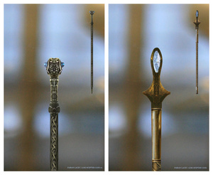 Avengers concept art takes a closer look at Loki's staff and Hawkeye's arrows
