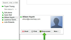 Screenleap for Gmail Offers One-Click Screen Sharing from Your Inbox or Google Contacts