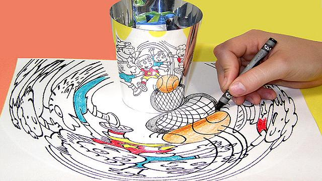 The art of anamorphic illusions
