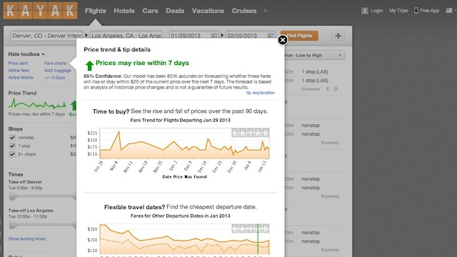 Click here to read Kayak Adds Price Forecasting to Predict Price Drops and Increases