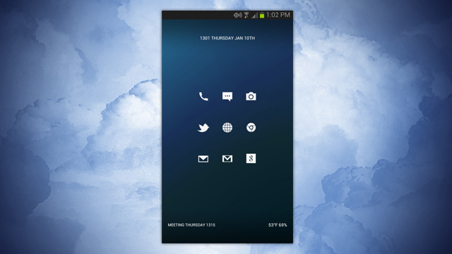 featured android home screen - The 3x3 Home Screen