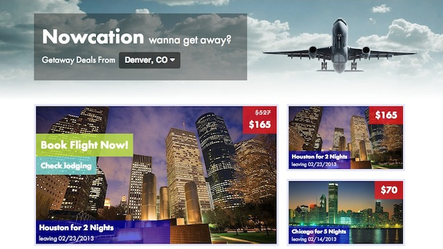 Click here to read Nowcation Shows You Cheap Flights Departing within a Month