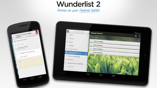 Click here to read Wunderlist for Android Supports Tablets, Manages Your To-Dos on a Large Screen