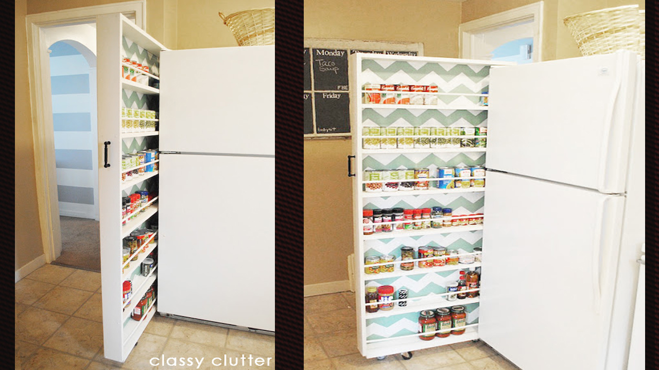 Build A Space-Saving Roll-Out Pantry