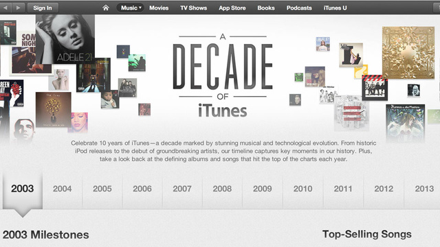 Click here to read The iTunes Store Is A Decade Old Today