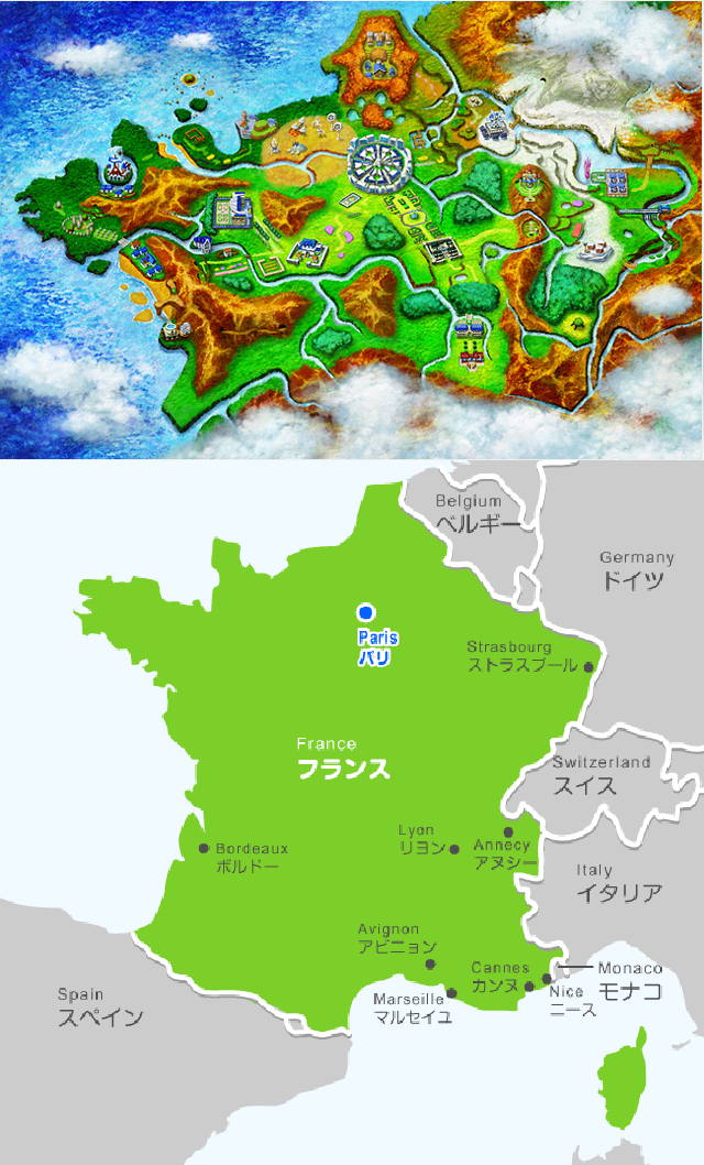 Pokémon X/Y Sure Looks Like France