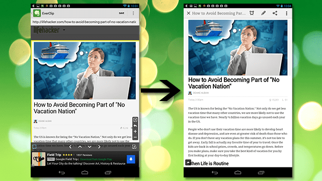 EverClip Saves Web Content To Evernote From Any Browser