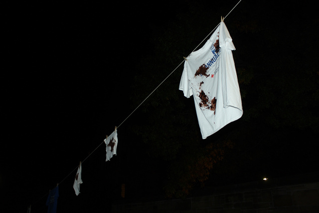 Shit-Stained Shirts Strung Up Around Yale, Poop Crisis Escalates