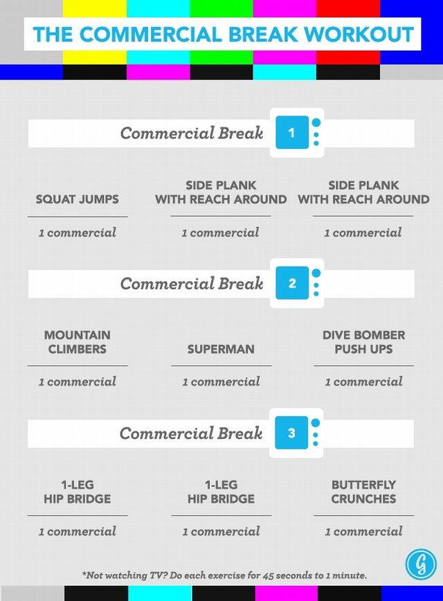 The Commercial Break Workout Keeps You Fit While Watching TV