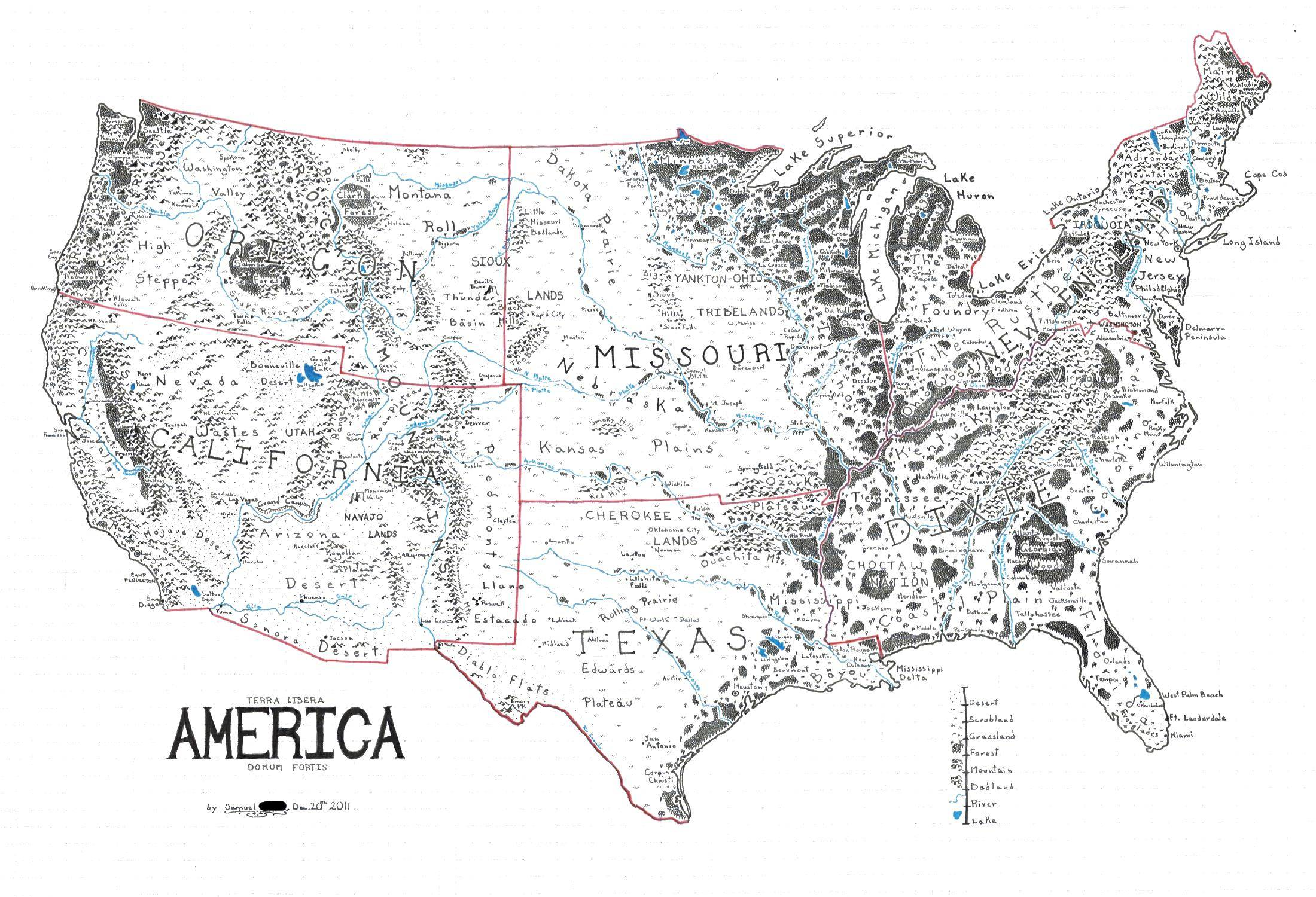 Middle Us Map