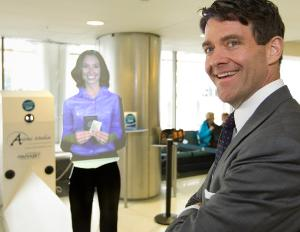 Holograms could soon replace airport workers