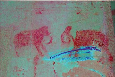 Рисунок на стене храма