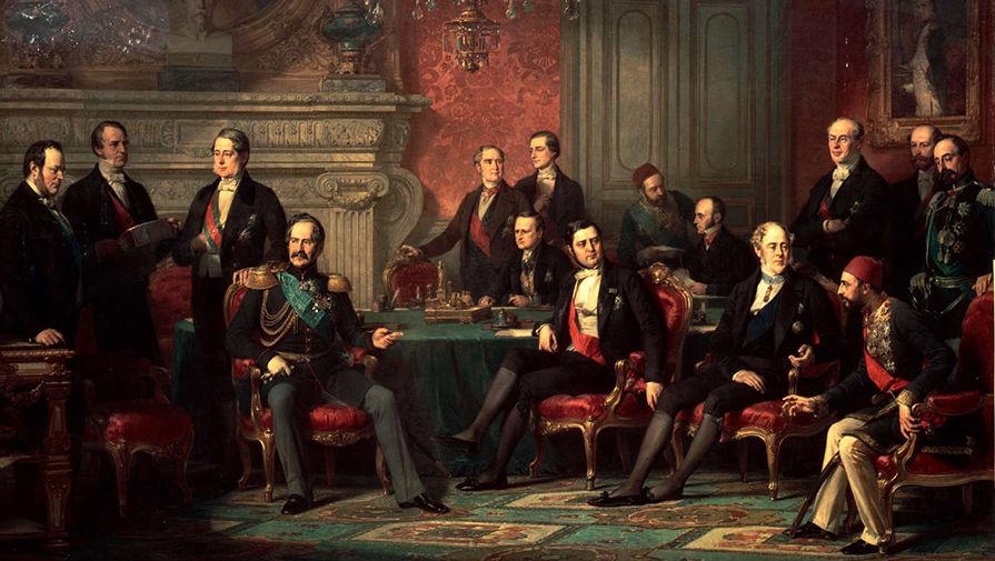 Луи-Эдуард Дюбюф. Подписание Парижского мирного договора. 1856