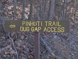 <br /> Dug Gap Access via Pinhoti Trail