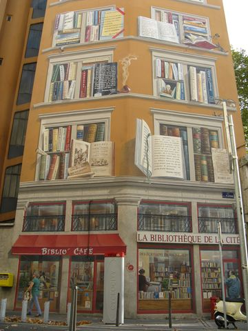 gc1g5e5 mur peint de lyon 3 la bibliotheque de la cite unknown cache in auvergne rhone alpes france created by dblcoin
