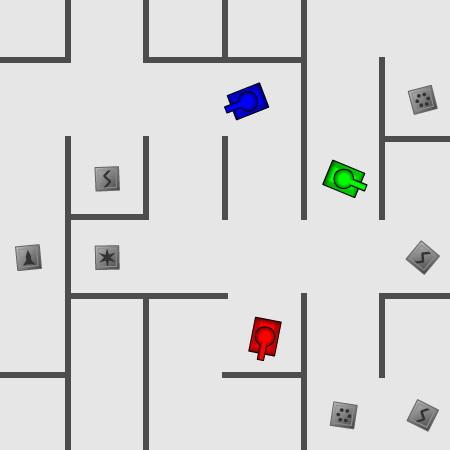 Танки в лабиринте | Играть в игры на двоих и троих игроков