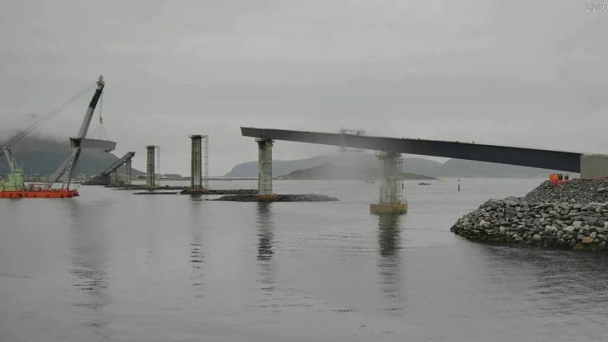 Lepsøybrua på Nordøyvegen: Norgesrekorden nærmer seg ...