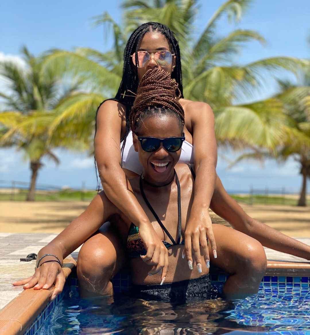 Lesbian Alert! Ex BBNaija Stars Venita & Jackye Poolside Photos Sparks Controversy 4