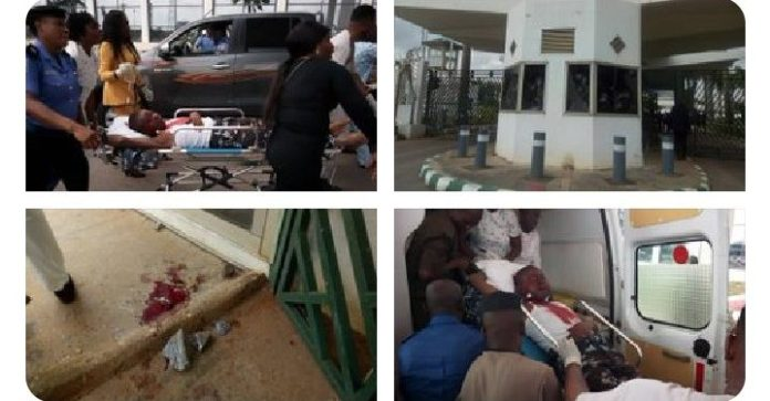 Shiites Protest At National Assembly Gate; Allegedly Shoot Policemen And NSCDC Officer (Photos)