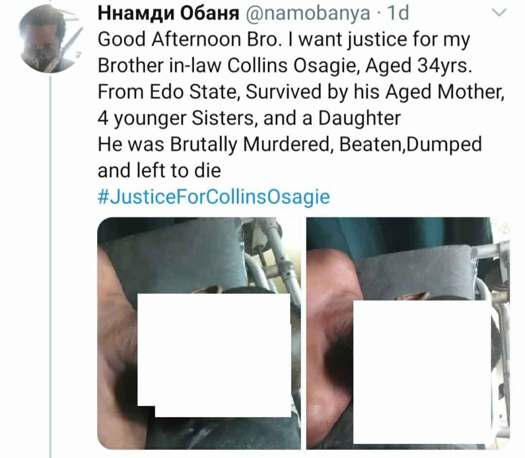Man Seeks Justice For His Brother In-Law Who Was Beaten To Death By Naval Officers Over N250 5
