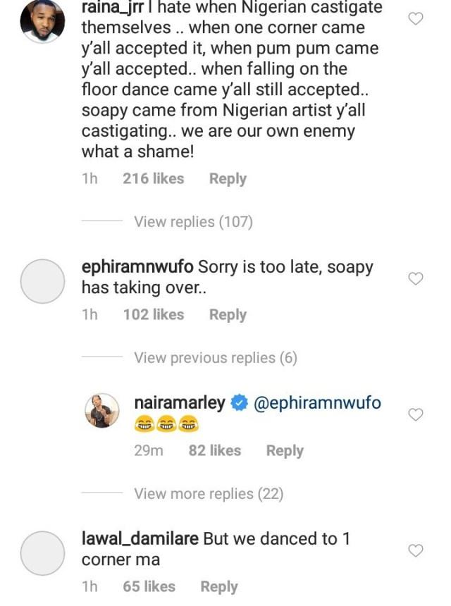 naira marley mocks kaffy for condemning his 'soapy' dance (see photos) NAIRA MARLEY MOCKS KAFFY FOR CONDEMNING HIS 'SOAPY' DANCE (SEE PHOTOS) narr