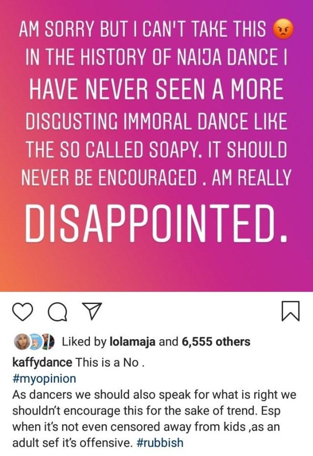 naira marley mocks kaffy for condemning his 'soapy' dance (see photos) NAIRA MARLEY MOCKS KAFFY FOR CONDEMNING HIS 'SOAPY' DANCE (SEE PHOTOS) soapy