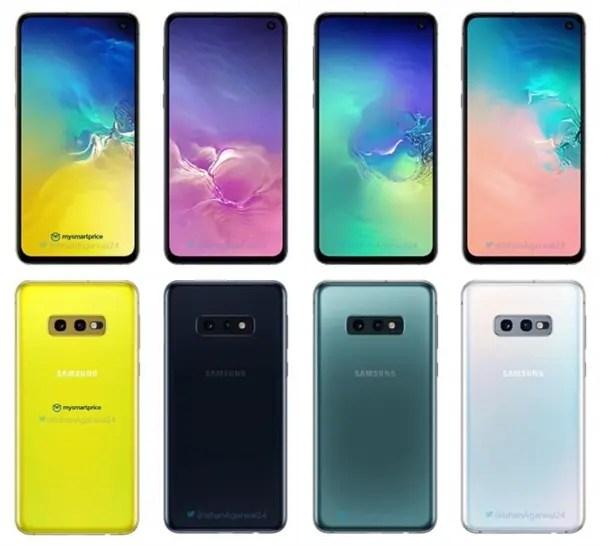 Samsung Galaxy S10 - opções de cores reveladas 3