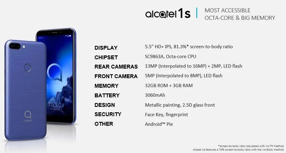Linha de smartphones Alcatel 2019 revelada pelo suspeito do costume 5
